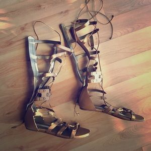 Leather Cynthia Vincent Gladiator Sandals